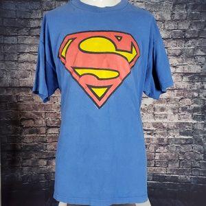 Superman Shirt Giant Vintage Shirt, XL